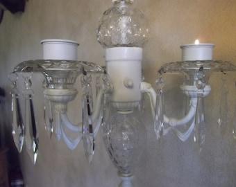SALE ! Vintage Chandelier, Candelier, vintage parts, WEDDING candle holder