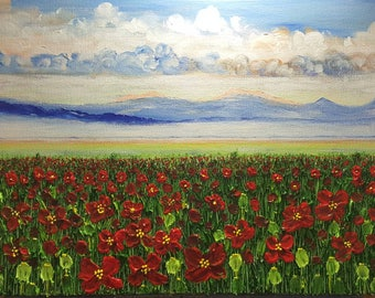 Poppy field 2 Sold & made to order