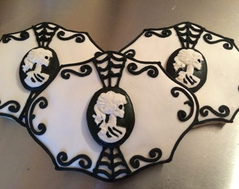 Lady Victorian Skeleton Sugar Cookies