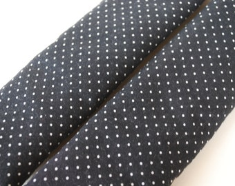 seatbelt covers car 1 pair  polka dots black and white