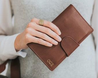 Leather passport wallet - Leather phone wallet - Travel wallet women leather - Leather passport holder personalized - Passport wallet women