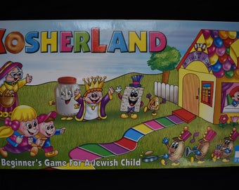 Kosherland board game A Beginner's Game For A Jewish Child Ages 4-7 NEW Sealed