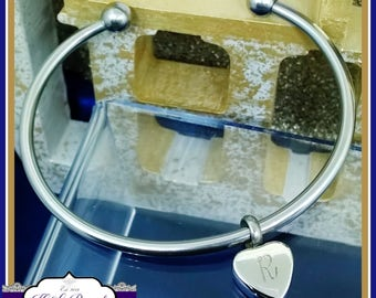 Cremation Urn Bangle - Heart Cremation Bracelet - In Memory Of Jewellery - Cremation Bracelet - Personalised Urn Bangle - Cremation Bangle