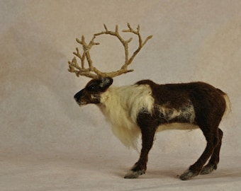 Needle felted animals. Needle Felted Reindeer. Needle felted soft sculpture. Needle felt by Daria Lvovsky