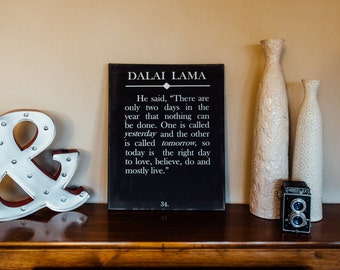 Inspirational quote sign, unique wall art, custom quote sign, dalai lama quote sign, inspirational home decor, wall art, canvas sign