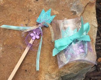 DIY Mermaid wands