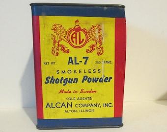 Alcan AL-7 Smokeless Shotgun Powder Tin