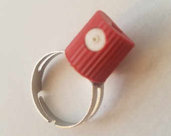 NEW! Red Spray Tip Graffiti Ring-/ Graffiti Jewelry / Urban Fashion / Art / Gift