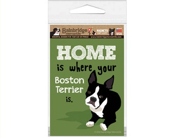 "Boston Terrier- Magnet 3.56"" x 4.75"""