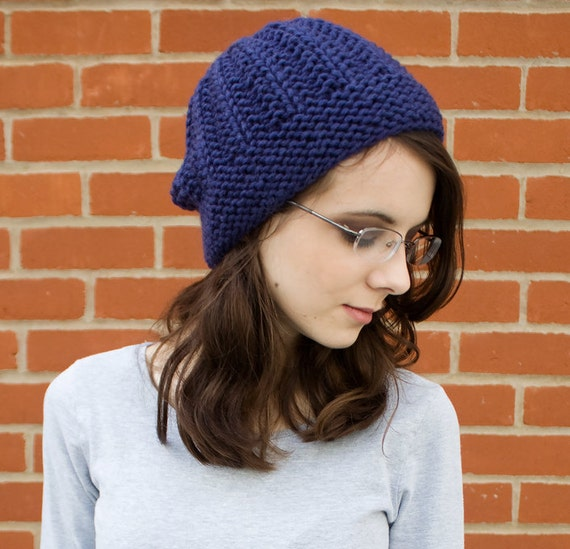 Instant Download Knitting Pattern - Knit Beanie Pattern - Knit Hat Pattern Imogen Beanie Womens Hat Pattern - Knit Beanie Womens