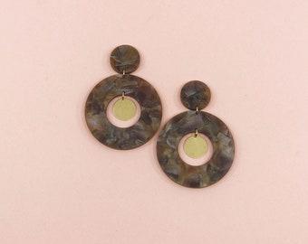 Orbit Drop Earrings in Coffee