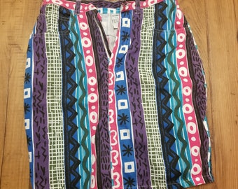 Funky Ladies Zippered Skirt Size S