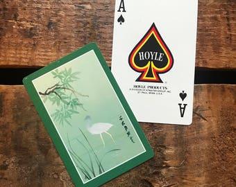 Vintage Heron Japanese Playing Card Deck - Full Deck - Paper Ephemera, Vintage Scrapbook, Vintage Playing Cards, Hoyle Cards, Deck of Cards
