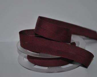 bias bound by 2 meters color plum 565 2cm / 20mm wide DMC Fillawant