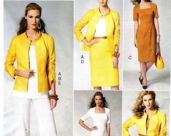 Vogue 8799 Divine Jacket, Top, Dress, Skirt & Pants / 2012 SZ6-14 UNCUT