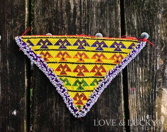 Kuchi Beaded Patch  / Gipsy  / Afghan Beadwork ~ beaded-patch-100