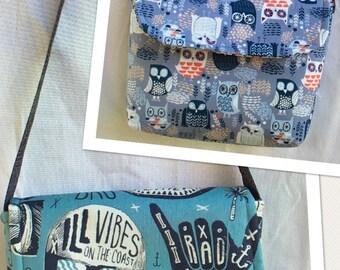 Skull, surfboard, Messenger Bags