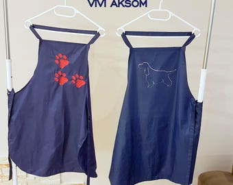 Waterproof bathing apron, groomers apron.