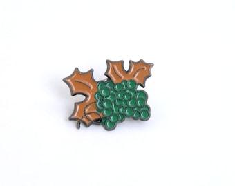 Grapes, grape pin, fruit, fruit pin, grapes brooch, fruit brooch, fruit jewelry, enamel pin, lapel pin, vegetarian, food lapel pin, food pin