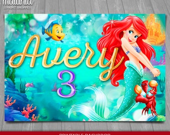 ariel birthday party etsy