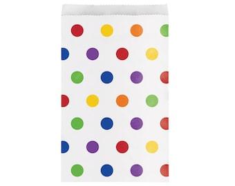 Polkadot Treat Bags - Unicorn Party - Paint Party - Party Favor Bags - Treat Bags - Snack Bags - First Birthday - Transportation Party Decor
