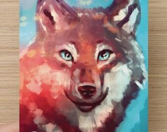 Wolf - Postcard - A6