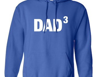 Dad3 Dad to the power of three or any number of kids T-Shirt Funny Fathers Day Gift The Best Dad Tee Shirt Tshirt Mens Kids MADLABS ML-375h