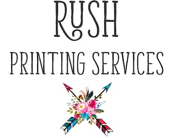 RUSH PRINT SERVICES. 48 hour turnaround. 4X6 and 5x7 Cards & Postcard Printing. 5x7 Invitation Printing. Add to Digital Design.