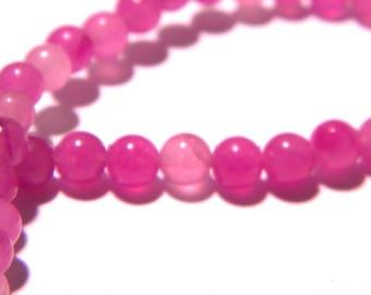 20 jade beads 4 mm - translucent - round bead - Gem Stone - Purple-F177-2