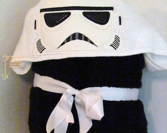 Galaxy Trooper (Storm Trooper) Star Wars Hooded Towel for Bath Pool