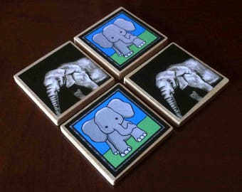 Elephant Magnets (set of 4)