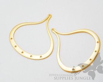 P180-MG// Matt 14k Gold Plated Droplet Pendant, 2pcs
