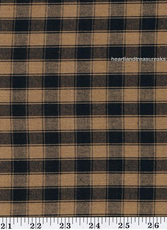 Dunroven House H 54 Homespun Black U0026 Wheat Plaid Fabric 1/2 Yard Cut Off  The Bolt From Heartlandtreasuresks On Etsy Studio