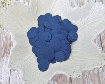 Navy Blue Paper Confetti Circles - 400 Pieces - Weddings, Showers, Birthdays - 1/6, 5/8, and 1.5 Inch Sizes