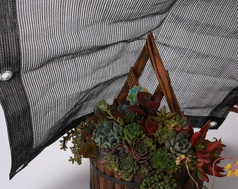 Sun Shade Sail 75% UV Block Outdoor Garden Awning Canopy Plant Cover Mesh Net Shade Cloth Black Custom Made Size