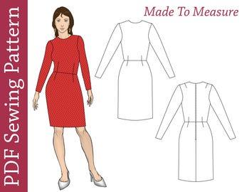 Custom Size Sloper Pattern- PDF sewing pattern,custom sewing pattern, maternity PDF pattern, dress pattern, plus size pdf pattern