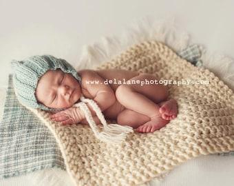Newborn Photo Prop Chunky Baby Blanket Photography Prop Basket Filler Basket Stuffer Mini Pick your Color
