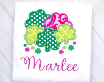 Lots 'o Shamrocks Girl Embroidery Shirt