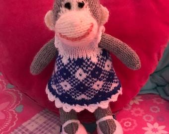 Handmade Knitted Monkey