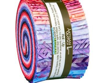 Robert Kaufman Artisan Batiks: Splendid, Roll Ups, RU-591-40