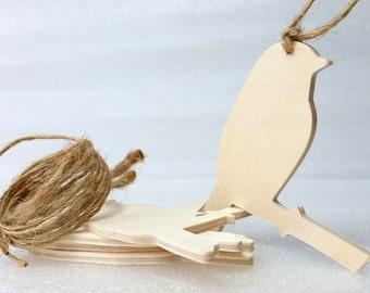 Chickadee Ornaments, set of 5, Unfinished,  DIY kit,  gift / momento / holiday decoration