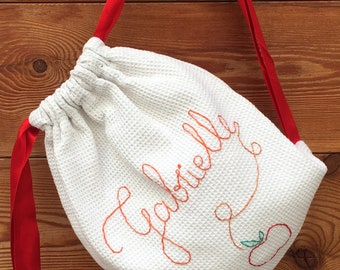 Child bag, personalized embroidery