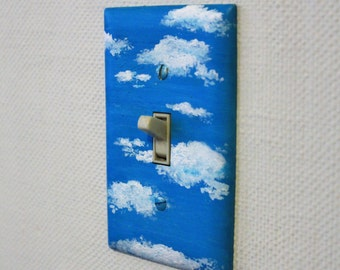 Single switch plate cover - cloudy sky