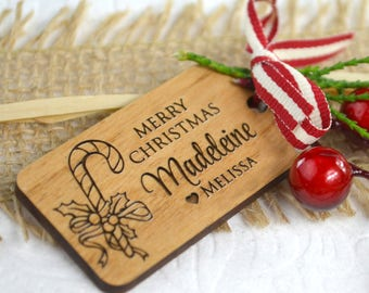 Christmas Engraved Wooden Gift Tags (10 pack)