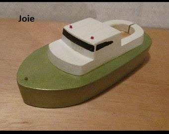 Little Wooden Toy Boat