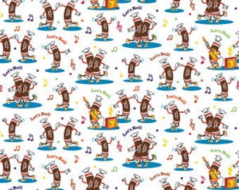 Tootsie Dance in White - Licensed Tootsie Fabric  - you choose the cut