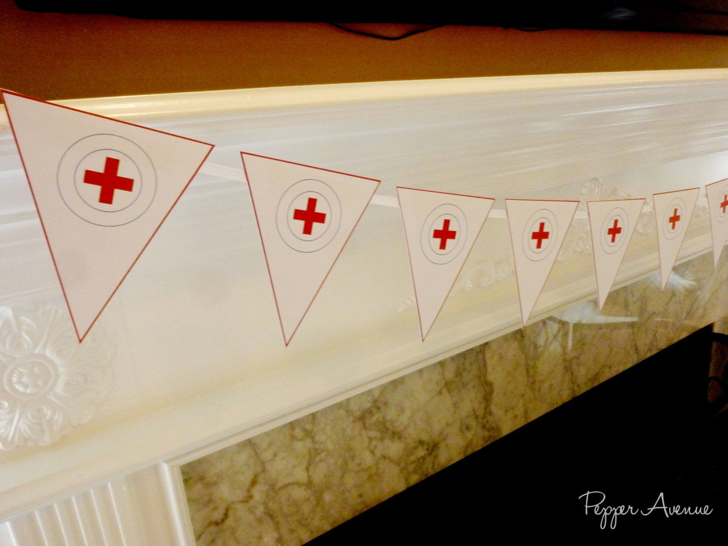 Doctor or Nurse Party Bunting Banner Birthday or Graduation