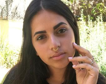 FAKE Septum Ring, Fake Piercing, Faux Septum Ring, Fake Piercings, Non Pierced Septum, Fake Nose Piercing