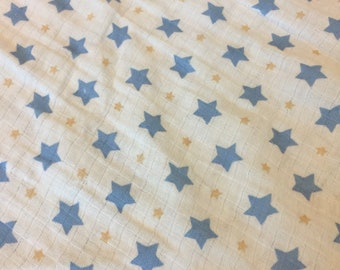 muslin baby blanket, baby swaddle, receiving blanket, double gauze blanket, muslin swaddle, stars, baby boy, baby girl, cotton blanket, baby