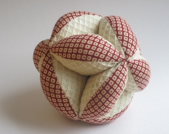 Baby's First Ball, Montessori Quilted Clutch Ball